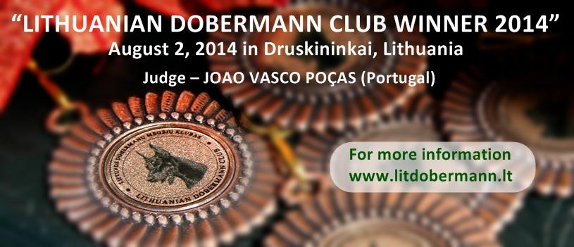 Lietuvos dobermanų klubo nugalėtojas 2014